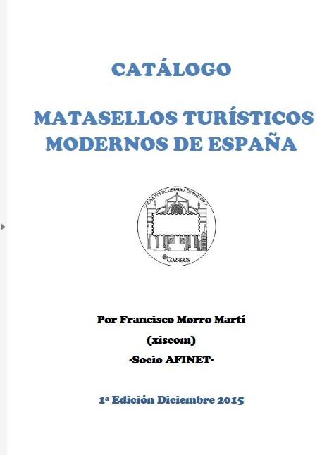 CATÁLOGO MATASELLOS TURÍSTICOS MODERNOS ESPAÑA