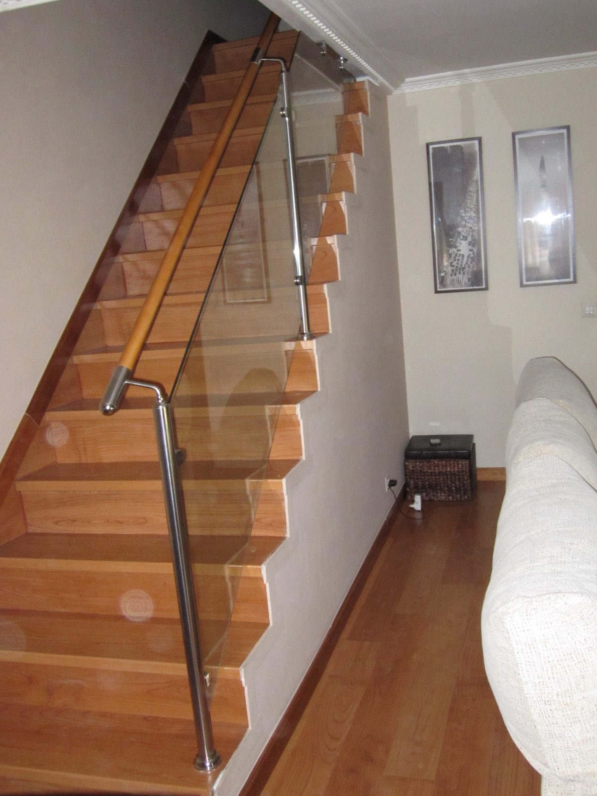 Norbel carpinteria met lica y acero inoxidable barandilla - Pasamanos escaleras acero inoxidable ...