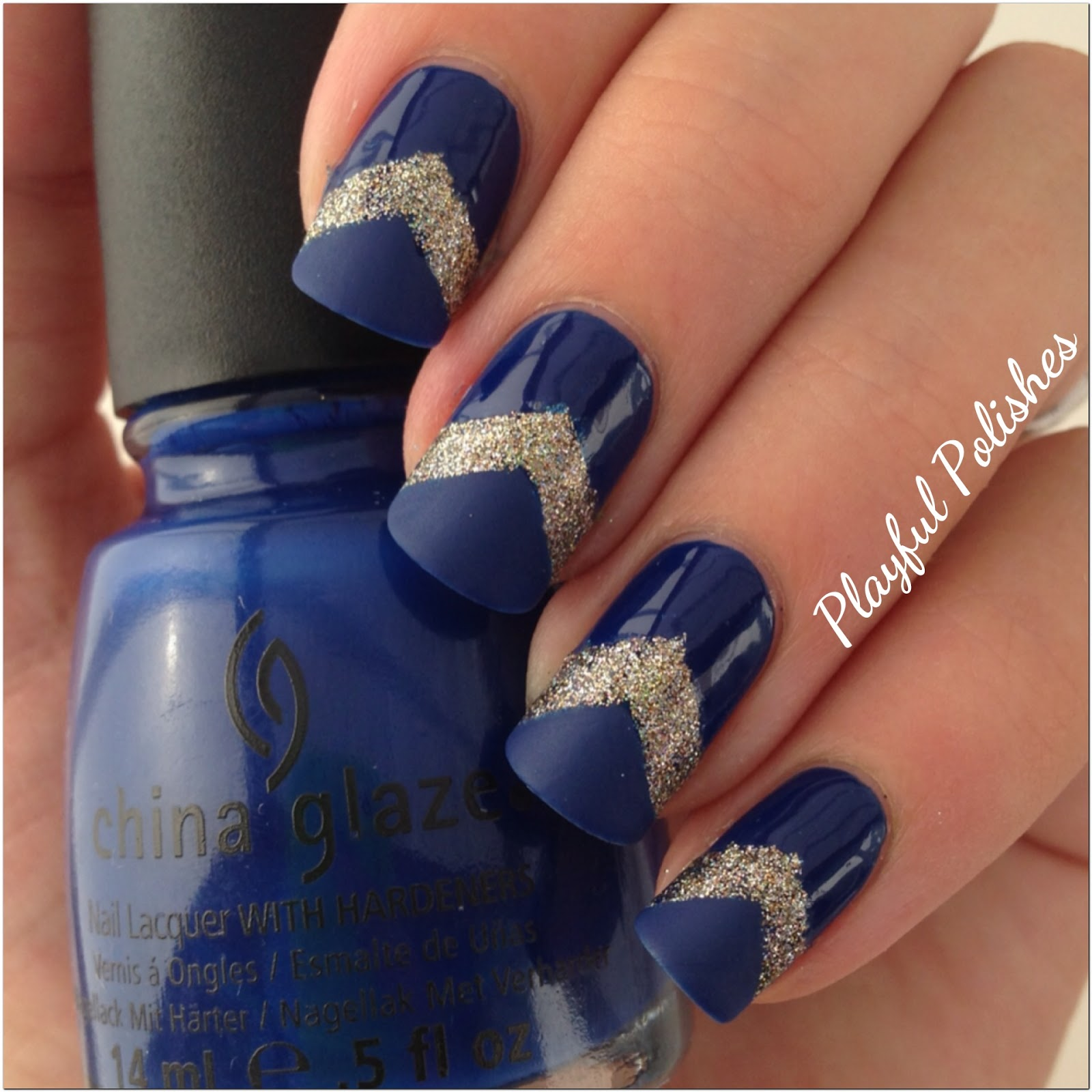 Playful Polishes June Nail Art Challenge Ocean Nails: Playful Polishes: 31 DAY NAIL ART CHALLENGE: BLUE NAILS