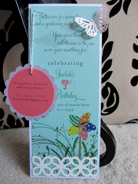We Designed A Butterfly Garden Party Invitation For Her 7th Birthday