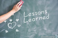chalkboard saying lessons learned