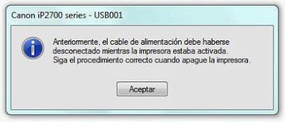 the printer error not shut off properly