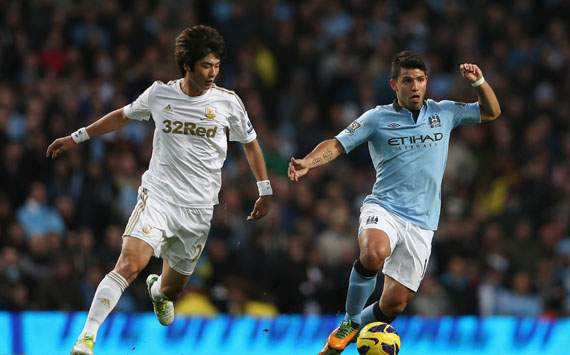 Foto Pertandingan Manchester City Vs Swansea City