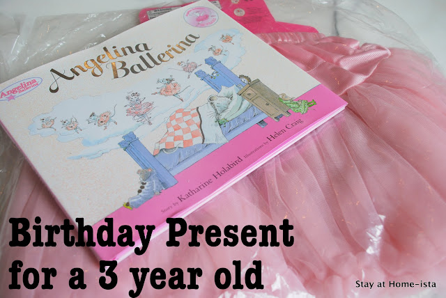 book and tutu birthday present