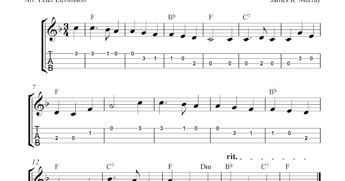 Away In A Manger, free Christmas ukulele tablature sheet music