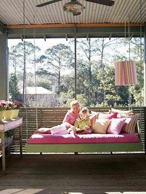 Dishfunctional designs this ain 39 t yer grandma 39 s porch - How to build a hanging bed ...