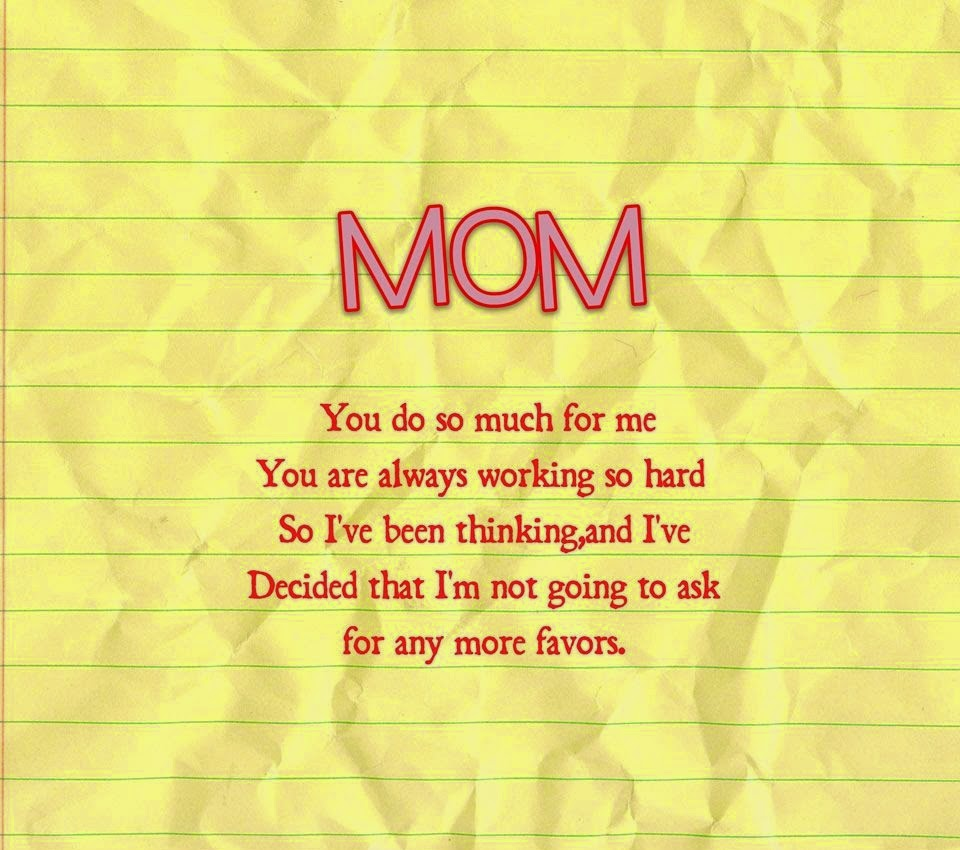 my idol is my mom