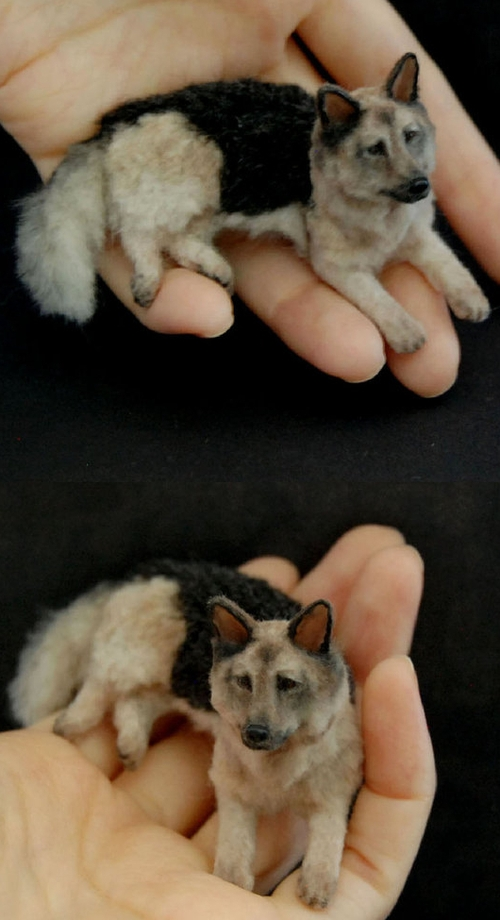 09-German-Shepherd-Dogs-ReveMiniatures-Miniature-Animal-Sculptures-that-fit-on-your-Hand-www-designstack-co