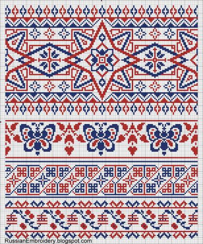Старинные схемы для вышивания: