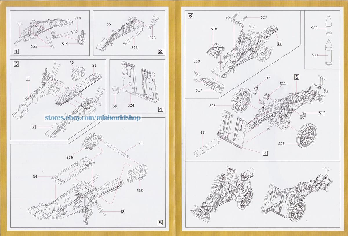 S-model PS720190 1//72 15cm s.IG.33 Infantry Gun 1+1