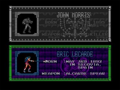 Eric Lecarde, le héros à la lance dans Castlevania Bloodlines sur Megadrive