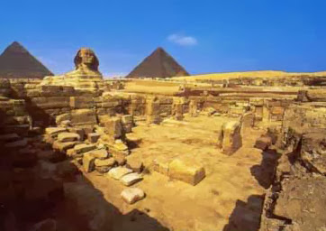 A view of the Old Kingdom Sphinx Temple