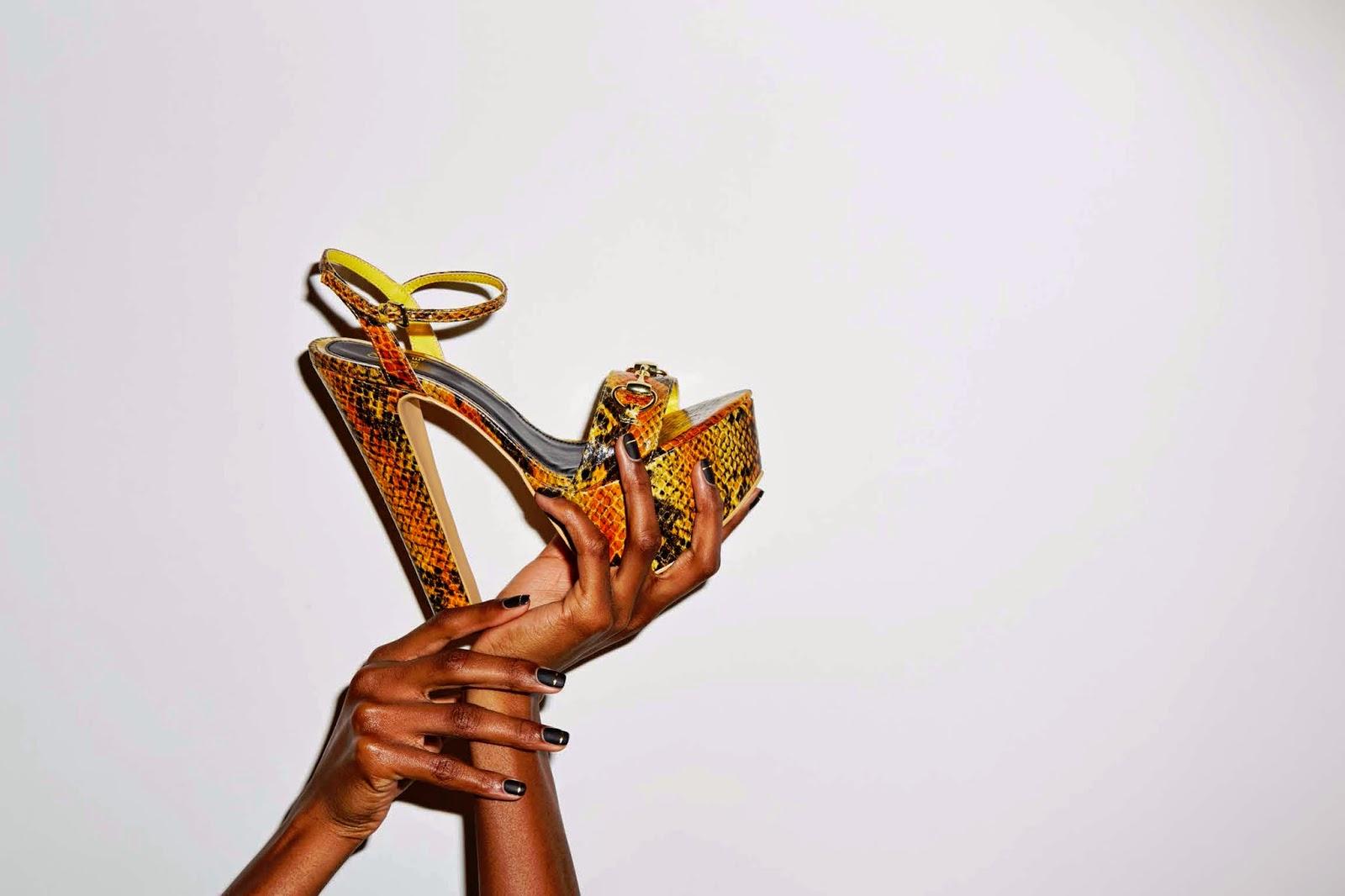 snake skin shoe look