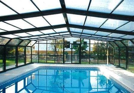 Complementos casa y jard n p rgolas para piscinas for Techos para albercas