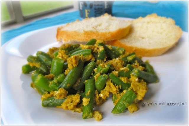 receta facil de frijoles verdes green beans easy recipe