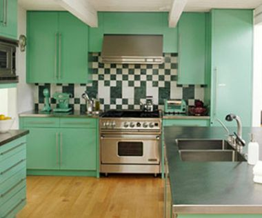 Green kitchen cabinets design home design idea for Kitchen cabinets green