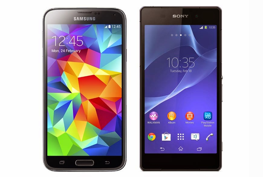 Samsung Galaxy S5 and Sony Xperia Z2