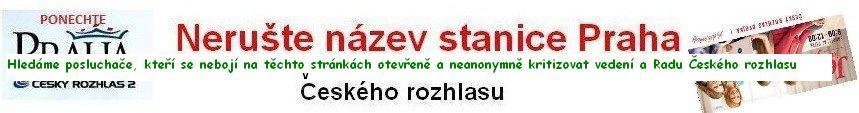 Nerušte název stanice Praha Českého rozhlasu