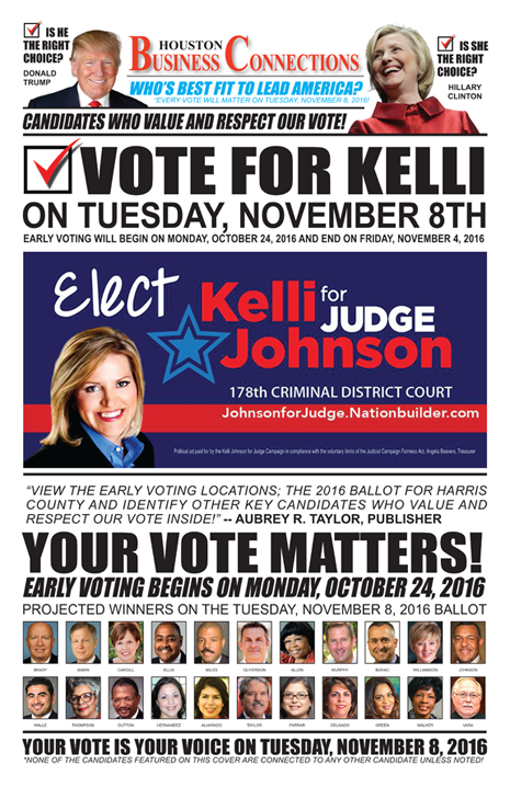 KELLI JOHNSON VALUES OUR VOTE, SUPPORT AND COMMUNITY!