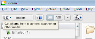 Import button to get scans from scanner