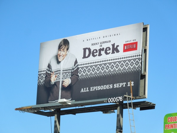 Derek series premiere NetFlix billboard
