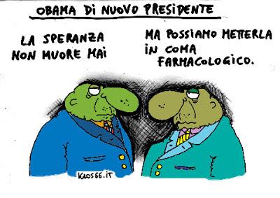 Vignetta Obama di nuovo presidente