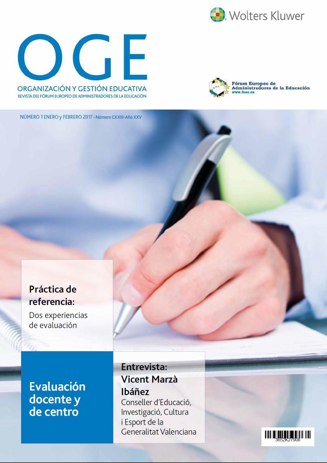 REVISTA OGE, Organización y Gestión Educativa.