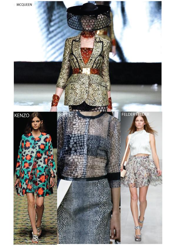 animal print, snakeskin, print, leopard print ss13 pattern