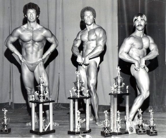 Stanley Morey (left) winner of AAU bodybuilding contest ● www.robbyrobinson.net//master-class.php ●