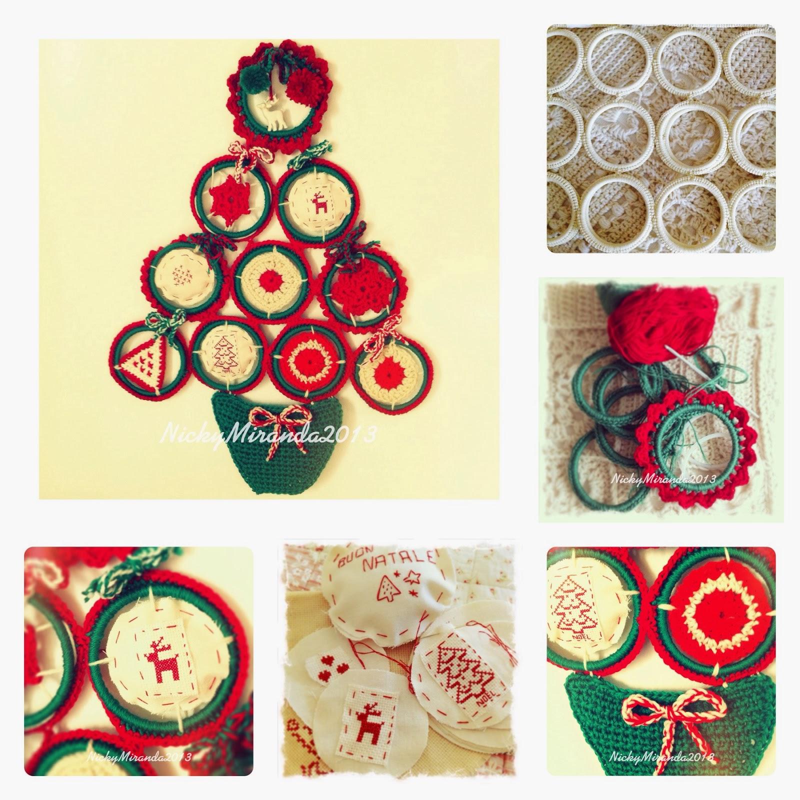 """2012 work in progress """"Imperfetto"""" albero di Natale a uncinetto e"""