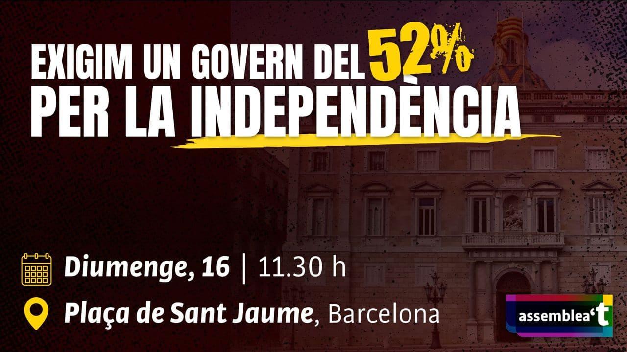 Exigim un Govern del 52%