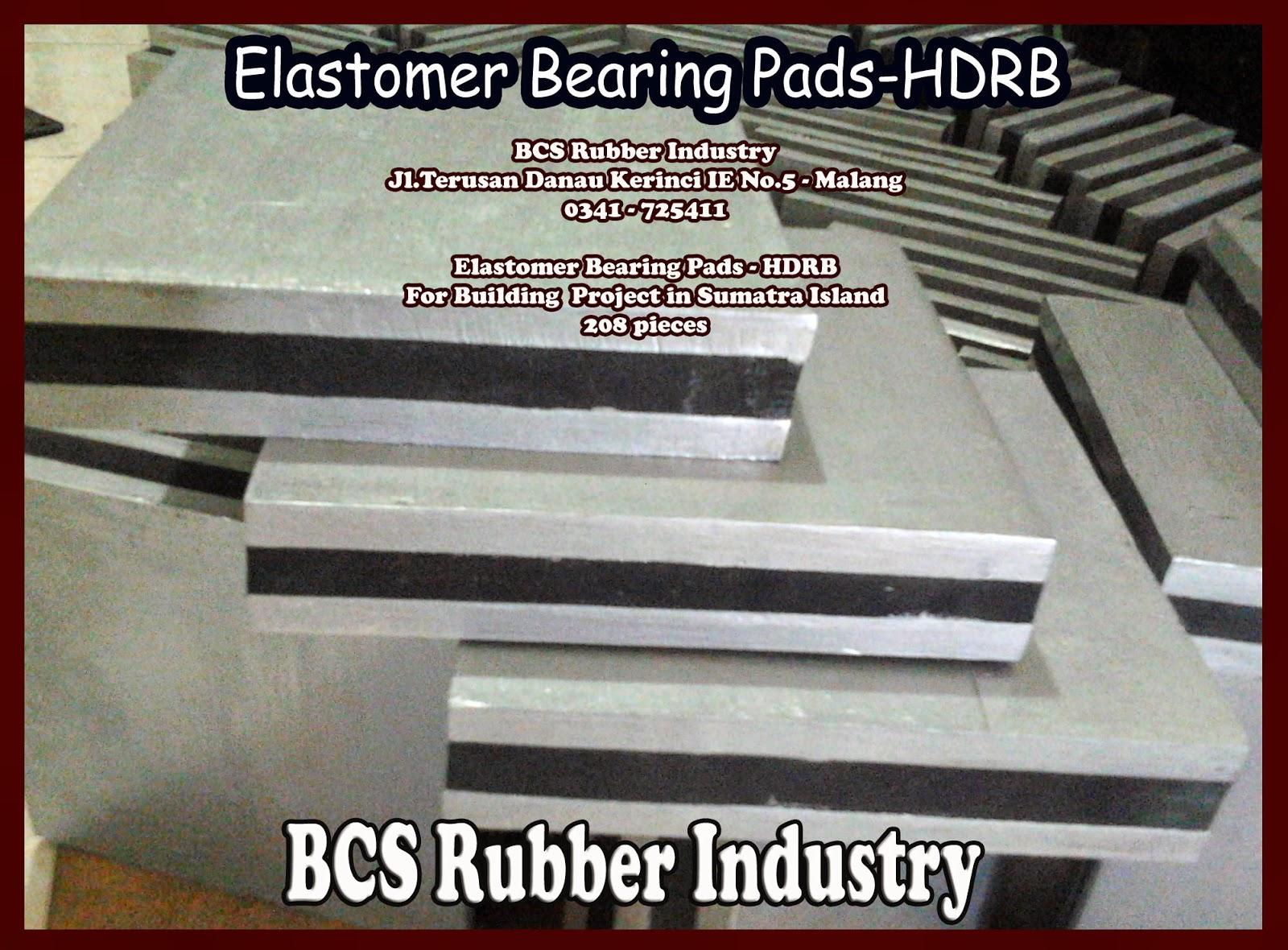 """KARET TAHAN GEMPA """"SEISMIC RUBBER BEARING"""" - BCS RUBBER PRODUCTION ,Elastomer Bearing Pads.Karet bantalan Jembatan,Elastomeric Bearing Pads."""