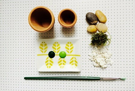 Macetero con Piedras Pintadas, Diseño Espino