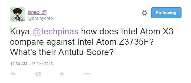 Intel Atom X3 Sofia vs Z3735F Antutu Benchmark Score