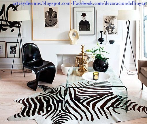 SALAS/LIVING DISEÑO ANIMAL PRINT by artesydisenos.blogspot.com