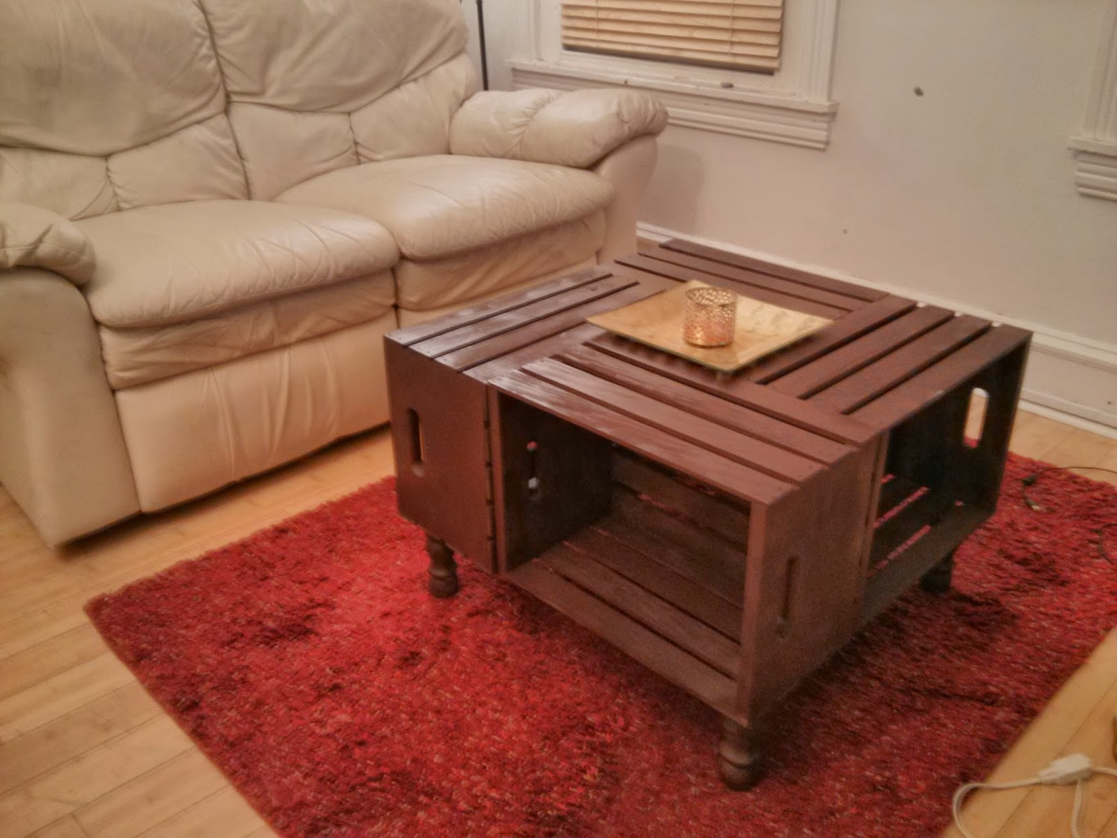 Mixed media diy repurposed wine crates coffee table for Other uses for a coffee table