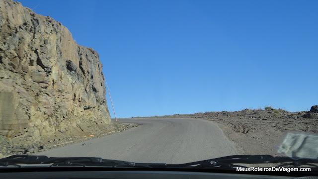 Curva no caminho para o Valle Nevado