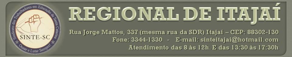 SINTE REGIONAL DE  ITAJAÍ