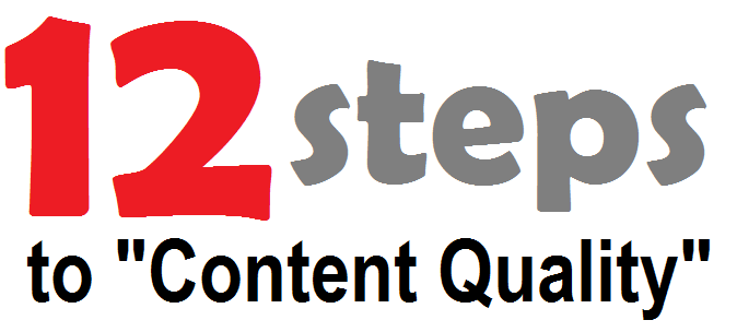 12 Steps to Content Quality