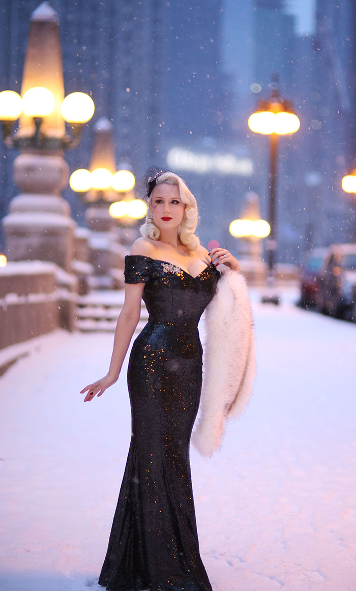 Rachel Ann Jensen Sequins In Snow The Pretty Dress Company Giveaway