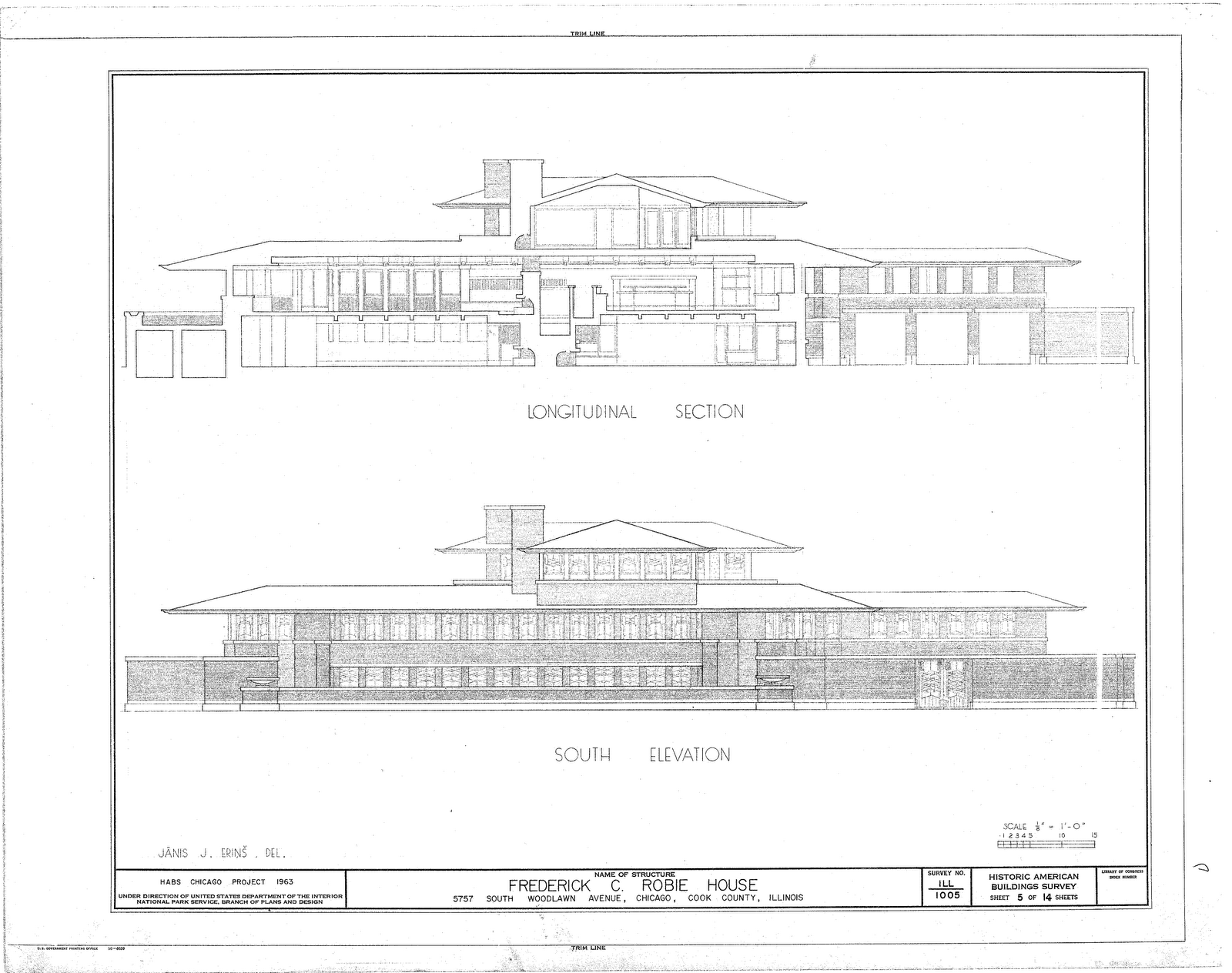 Robie house plans dwg arts