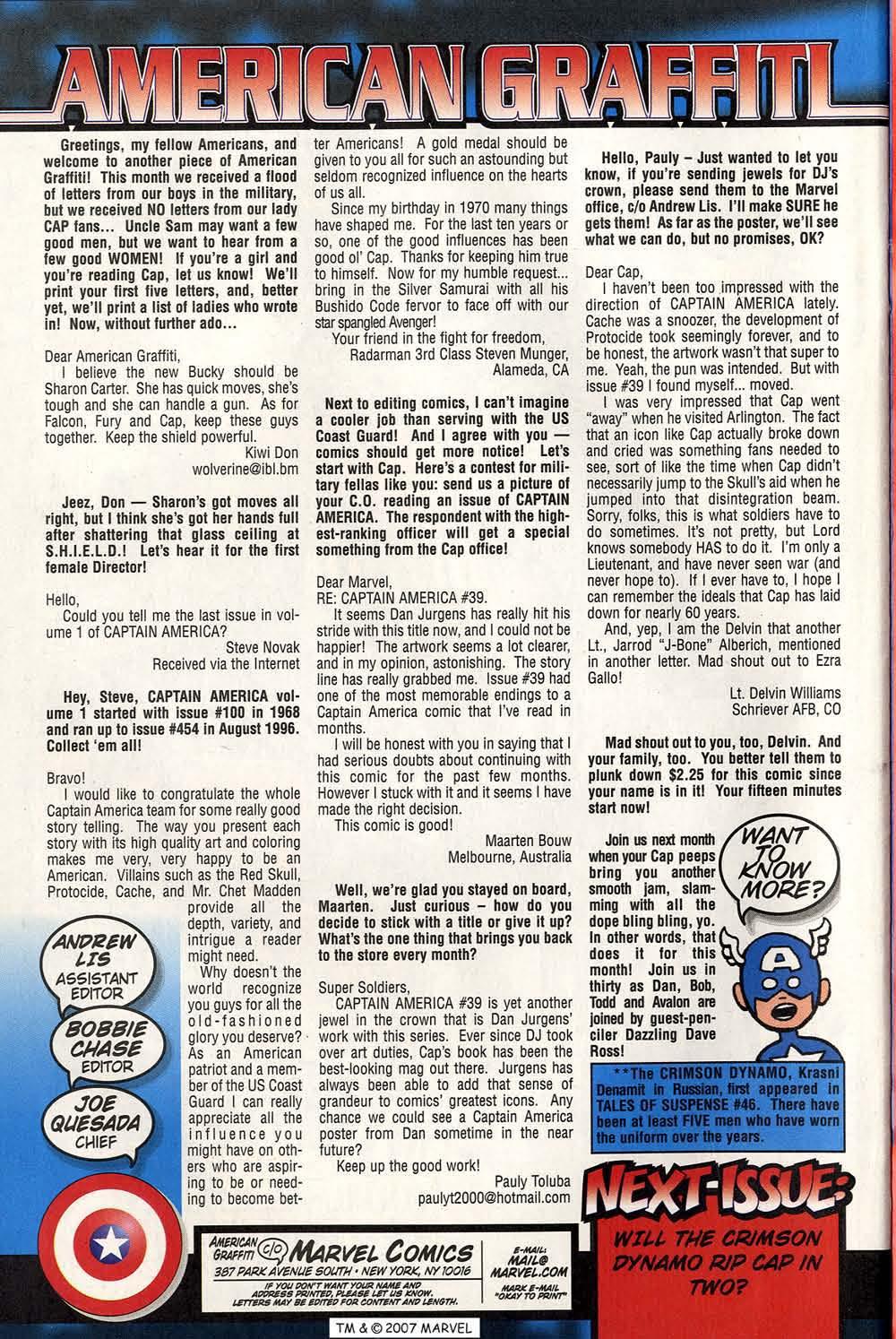Captain America (1998) Issue #42 #49 - English 34