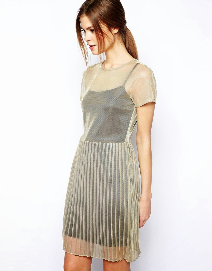 warehouse mesh dress