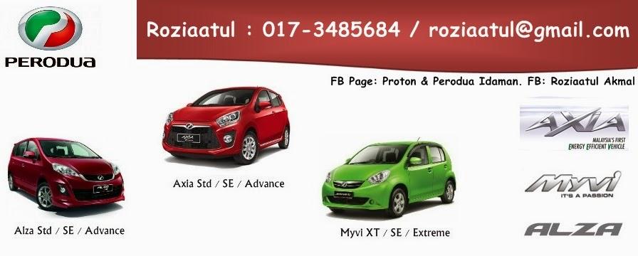 Book Perodua Myvi, Axia & Alza Now