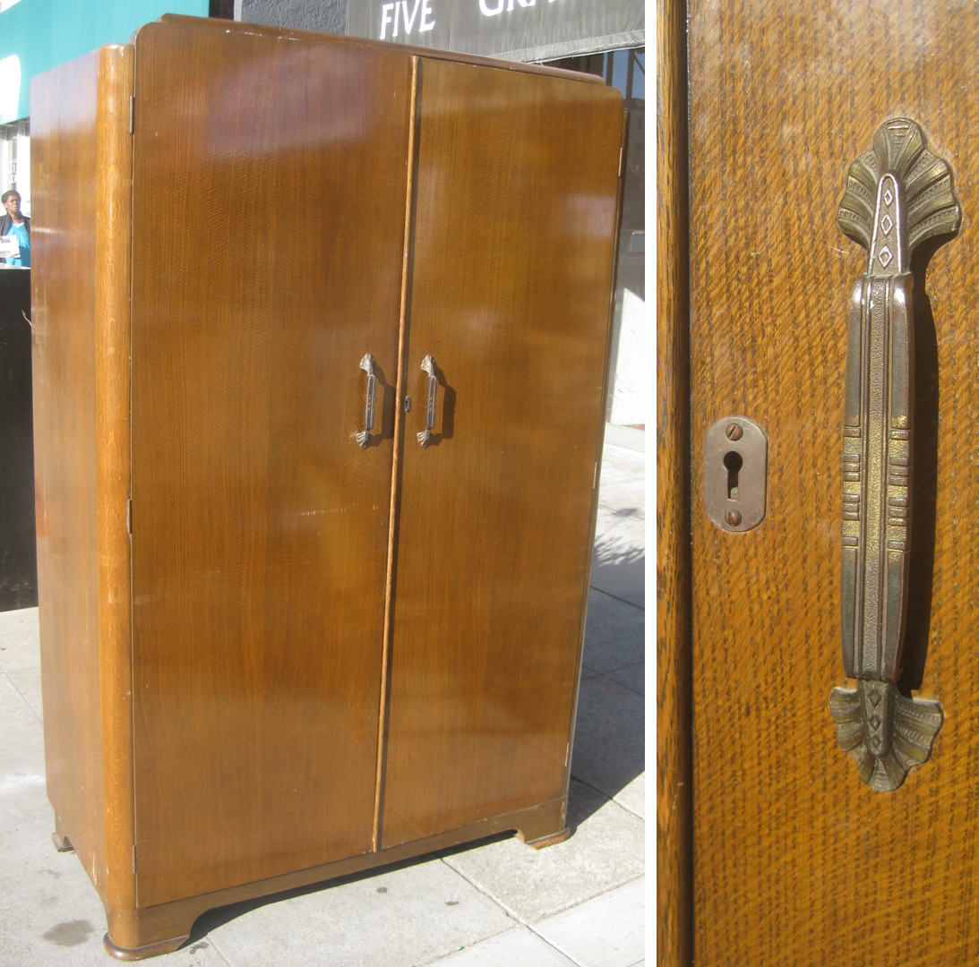 Marvelous photograph of UHURU FURNITURE & COLLECTIBLES: SOLD Clothing Armoire $175 with #7F4F1C color and 1093x1080 pixels