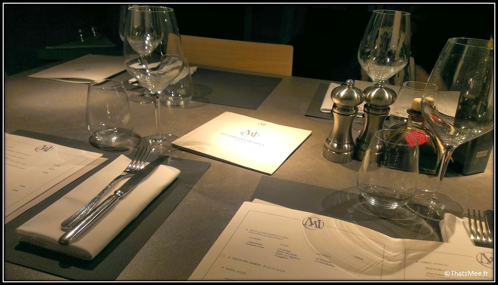 restaurant italien Les Amis de Messina Paris 12ème spécialités Sicile sicilienne tables Florent Pagny
