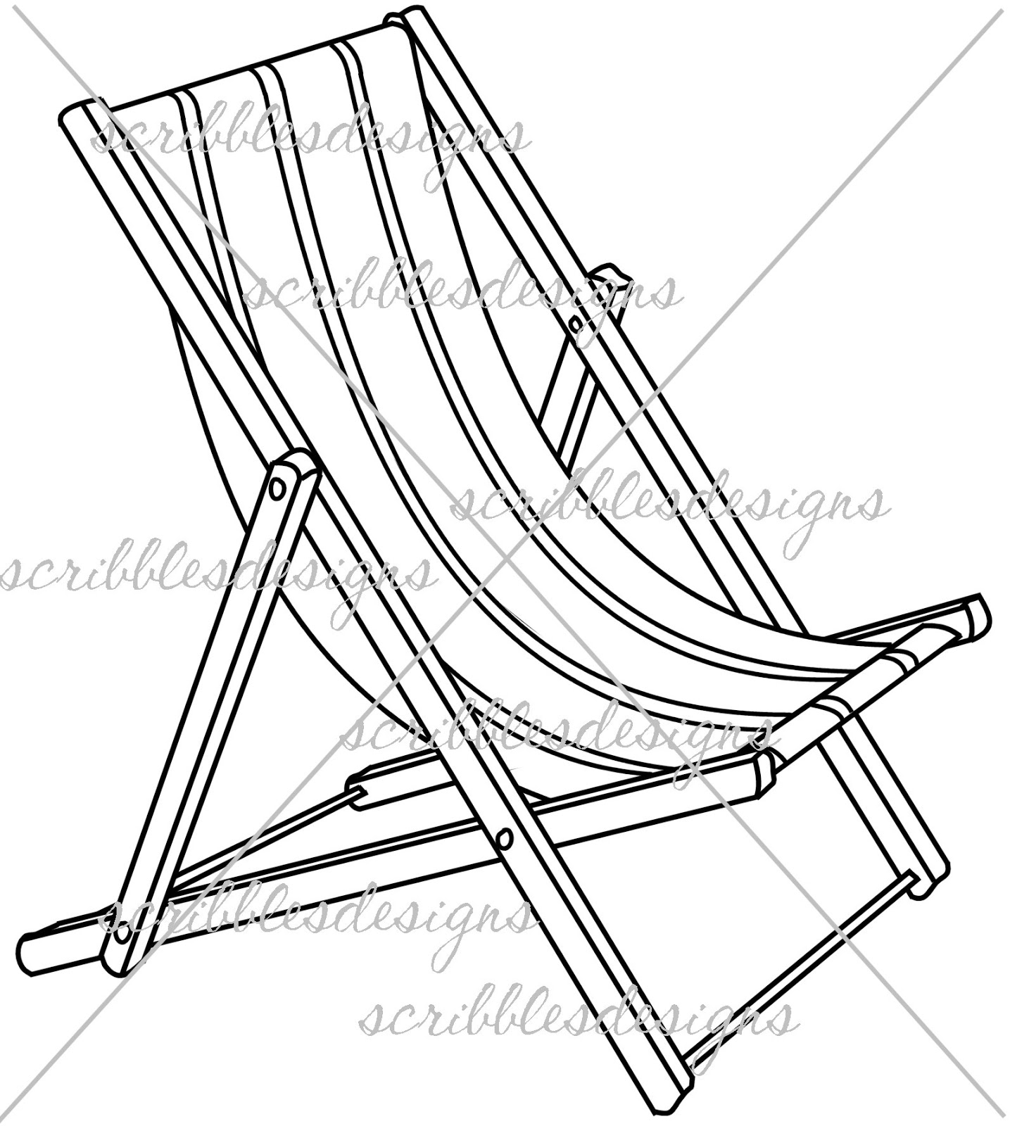 Easy Beach Chair Drawing