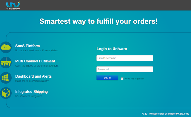 Login interface to Lazada's order fulfillment platform