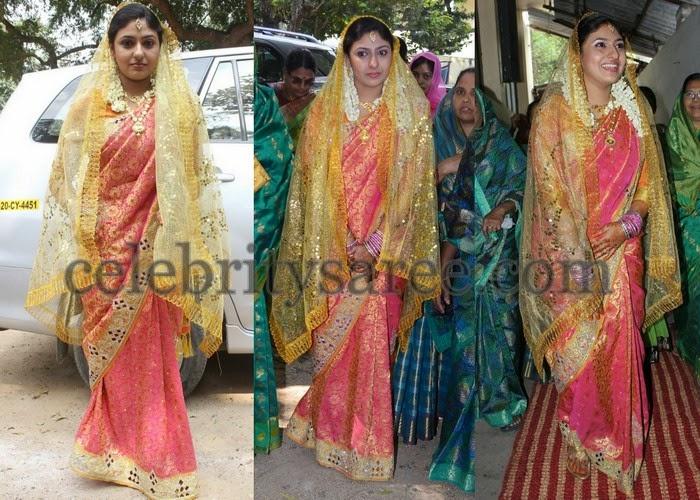 Actress Monika Wedding Saree