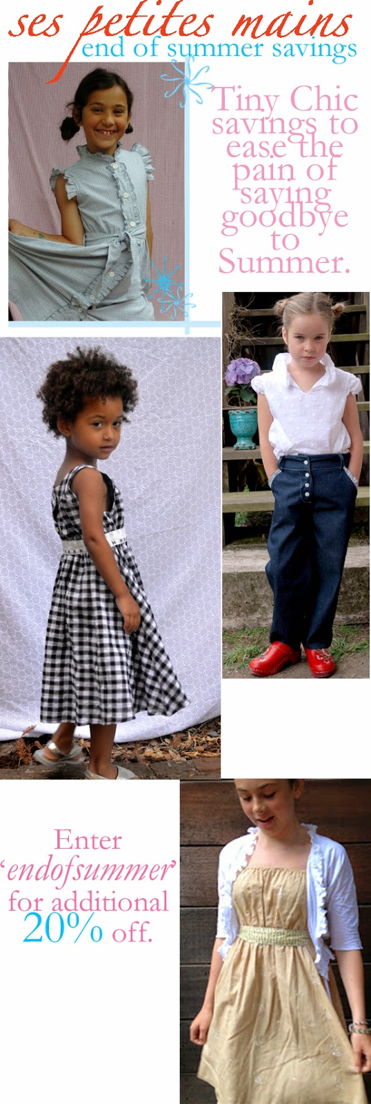 end of summer sale on girls clothing, handmade in San francisco by Ses Petites Mains, made in America